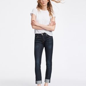 RAG & Bone dre boyfriend fit dark wash jeans slim